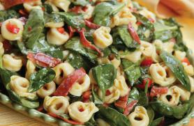 Cheese Tortellini Salad with Spinach