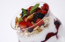 Fresh Berry Parfait with Muesli Honey Bars