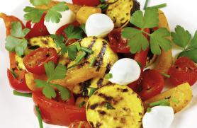 Grilled Summer Vegetables with Fresh Mozzarella