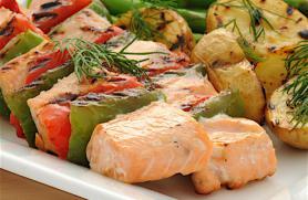 Lemon and Dill Salmon Kebabs