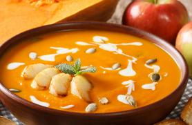 Butternut Apple Soup with Ginger