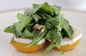 Grilled Apricots with Chevre and Honey