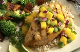 Grilled Chicken with Mango Salsa