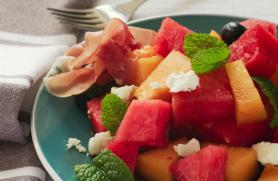 Summer Melon Salad with Mint and Prosciutto