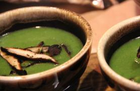 Watercress Soup with Shiitake Mushrooms