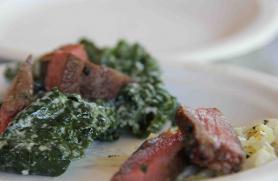 Grilled Lamb with Kale Caesar Salad