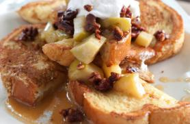 French Toast with Warm Apple Pecan Compote