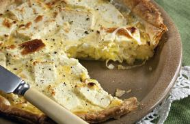 French Leek Pie with Gruyere Cheese