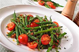 Balsamic Vinaigrette and Zingy Green Bean Sauté