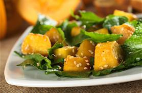 Ginger Miso Dressing with Squash & Spinach Salad