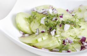 Marinated Greek Cucumber Salad