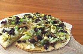 Mushroom Artichoke Flatbread Pizza