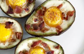 Eggs Baked in Avocado with Bacon