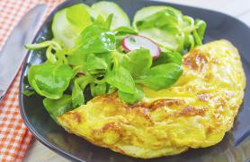 Goat Cheese and Bell Pepper Omelet