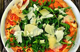 Easy Arugula Salad Pizza