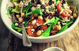 Mediterranean Salad with Blue Cheese