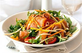 Smoked Salmon and Arugula Salad