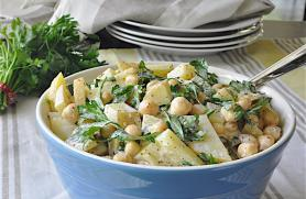 Potato and Chickpea Salad
