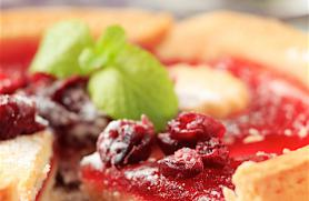 Cranberry Jam Tart with Almond Shortbread Crust