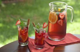 Red Sangria with Strawberries