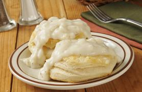 Flaky Biscuits with Creamy White Sauce