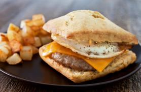 Sausage, Egg and Cheese Biscuit Sandwiches