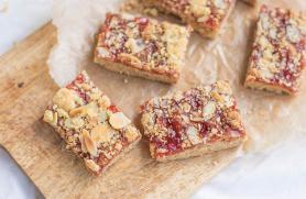 Raspberry-Almond Streusel Bars