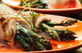 Chicken and Asparagus Roulade