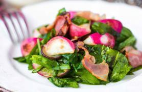 Roasted Radishes with Bacon