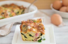Spinach, Ham and Gruyere Strata