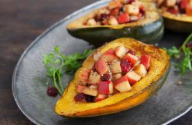 Cinnamon Apple Stuffed Squash