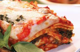 Ravioli Lasagna with Baby Spinach and Portobello Mushrooms