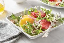 Plate of Arugula and Orange Salad