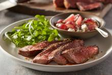 Balsamic Marinated Steak with Grape Relish