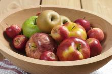 Variety of apples in a bowl