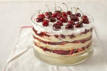 Serving Bowl of Cherry Trifle