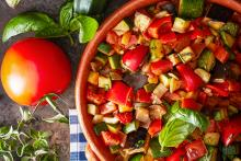 Garlic Basil Ratatouille
