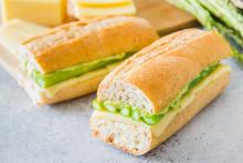 Grilled Asparagus and Gruyère Subs