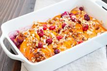 Sweet potato cranberry casserole