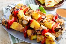 Spicy Pineapple Chicken Kebabs