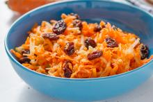 Indian Carrot Salad in a Bowl
