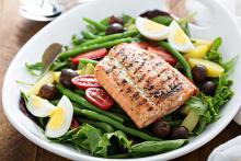 Bowl of Salmon Nicoise Salad
