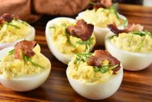 Deviled Eggs with Chipotle and Bacon