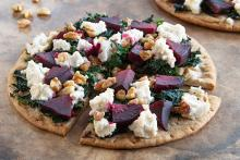 Kale and Beet Pita Pizza