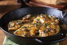 Chicken Marsala in a Cast Iron Skillet