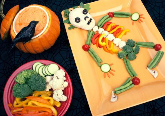 halloween very veggie skeleton recipe coop stronger together