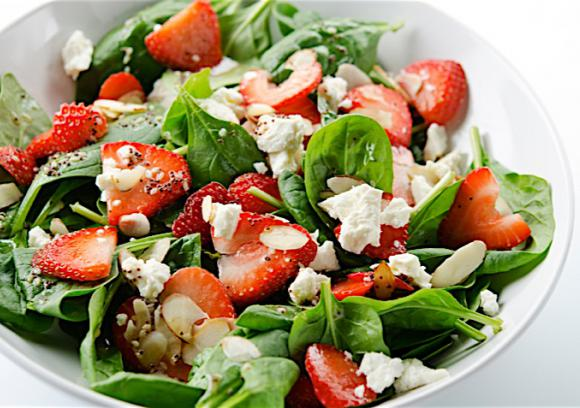 Spinach and Strawberry Salad with Goat Cheese | Co+op, stronger ...