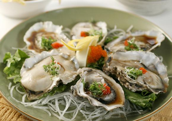 Japanese style oysters with fish roe recipe co op for Public fish and oyster