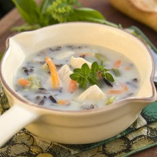 Classic Wild Rice Soup with Turkey