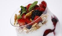 Fresh Berry Parfait with Muesli Honey Bars